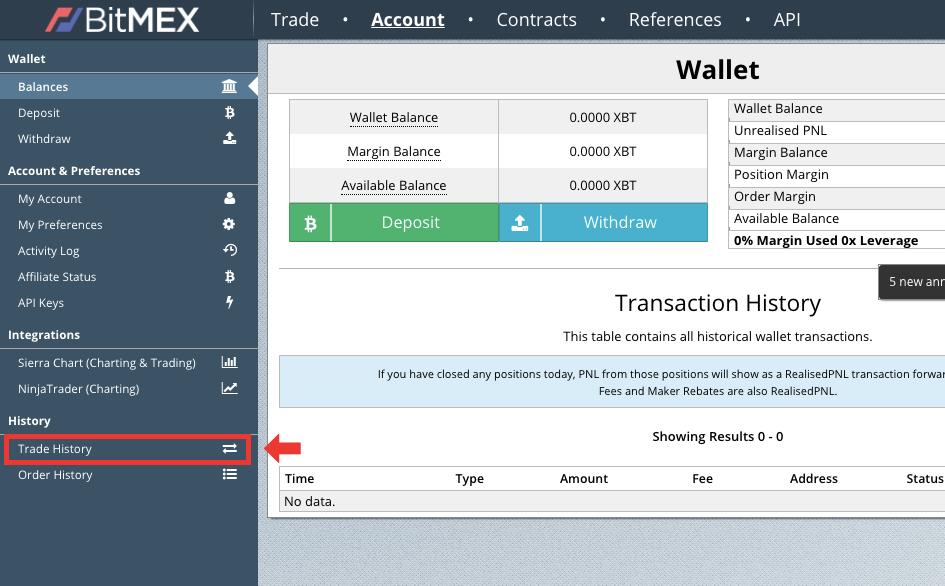 BitMEX(ビットメックス)の取引履歴をダウンロードする方法